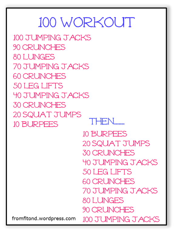 100 Workout | From Florida to North Dakota