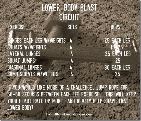 Lower-Body Blast Circuit