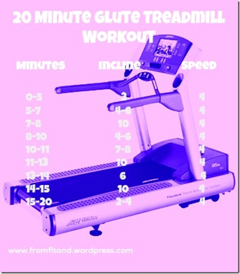 20 Minute Glute Treadmill Workout