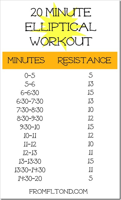 20 Minute Elliptical Workout Hills