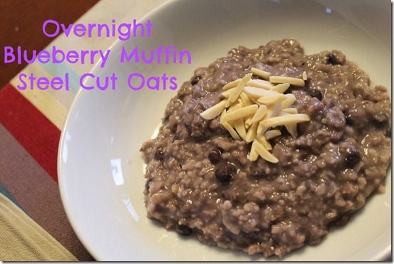 Overnight Blueberry Muffin Steel Cut Oats