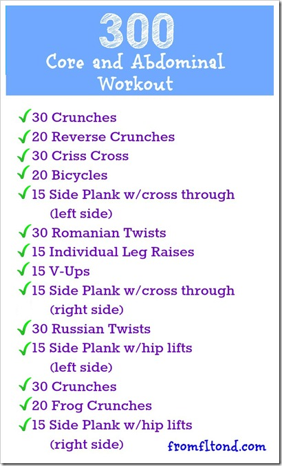 300 Core Workout