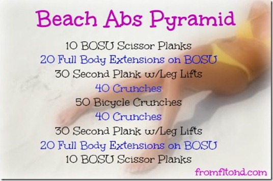 Beach Abs Pyramid