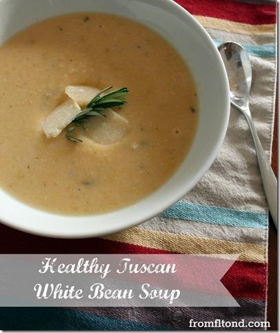 Healthy Tuscan White Bean Soup