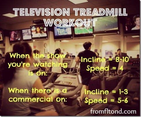 Television Treadmill Workout