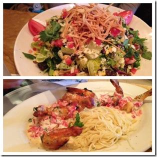 salad and pasta