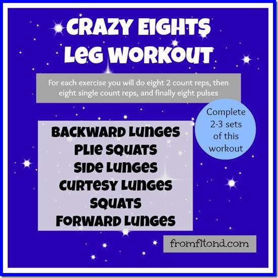 Crazy 8s Leg Workout