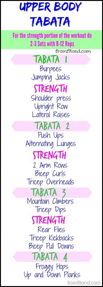Upper Body Tabata
